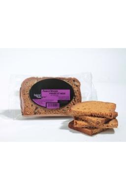 2 tranches de pain d'épices, spécial foie gras (figues et noix)  85g