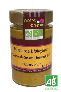 Moutarde Graines de sésame et Curry Bio