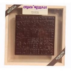 """Coffret de Chocolat noir """"Je t'aime"""" 200g"""
