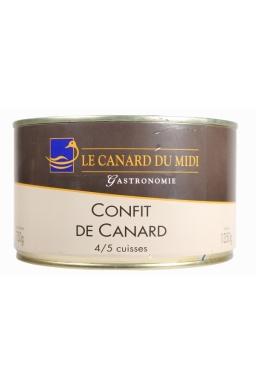 Confit de canard 4/5 cuisses 1350g